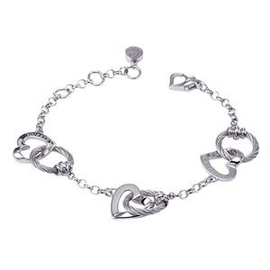 BRAND NEW Charriol steel heart bracelet